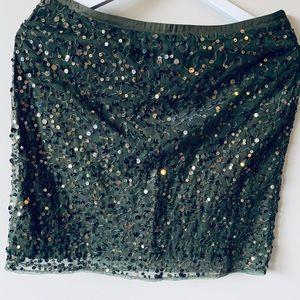 noa noa Skirts - Noa Noa Green Sequin Skirt